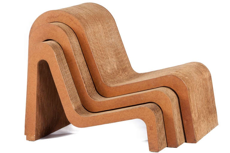 frank gehry cardboard chair pedicure manufacturers nesting chairs for easy edges sale at 1stdibs