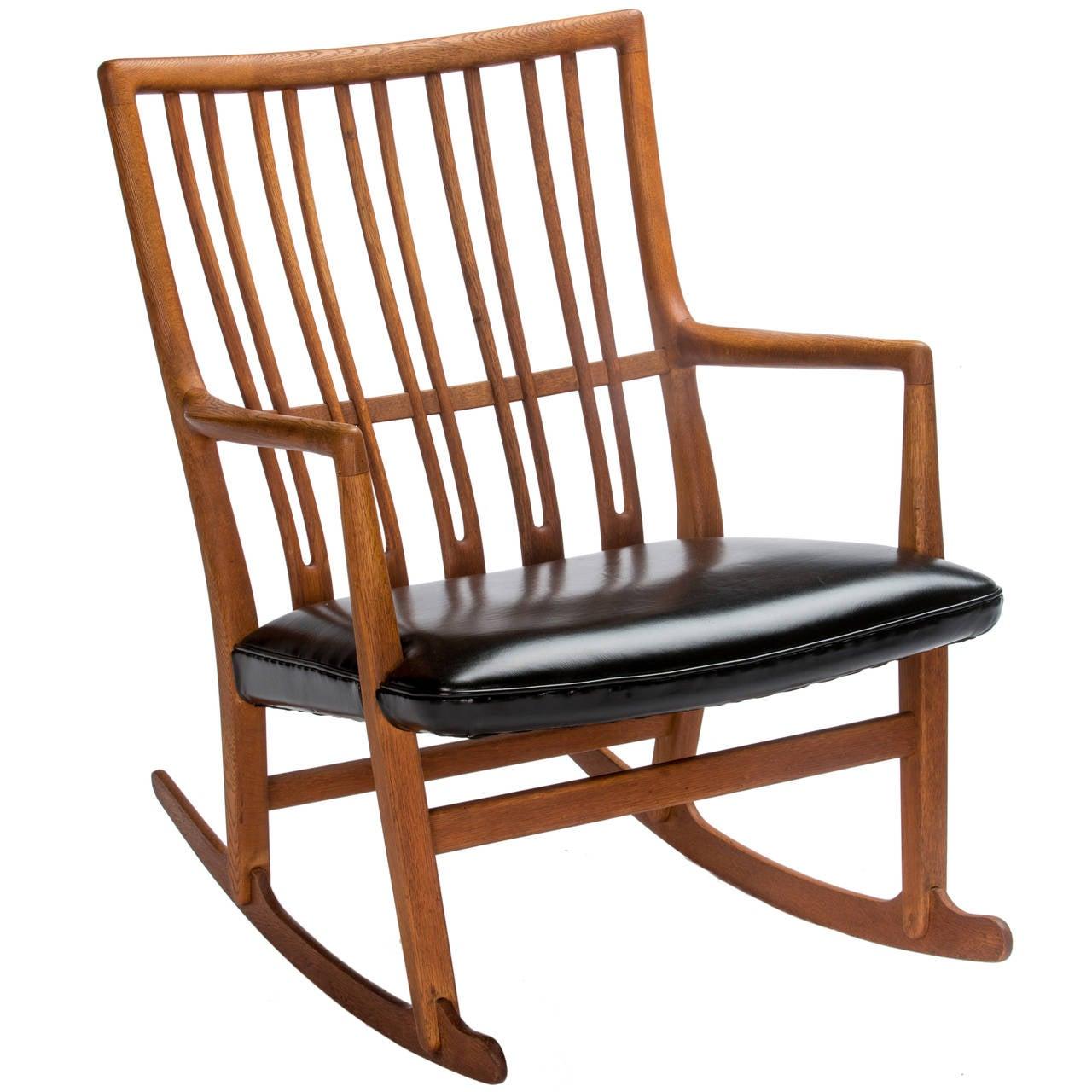 hans wegner rocking chair for toddler mikael laursen ml 33 sale at 1stdibs