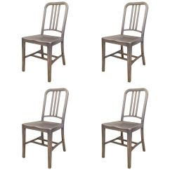 Navy Chair Stool Ngt Fishing Bag Emeco Set Of Four Vintage Chairs For Sale At 1stdibs