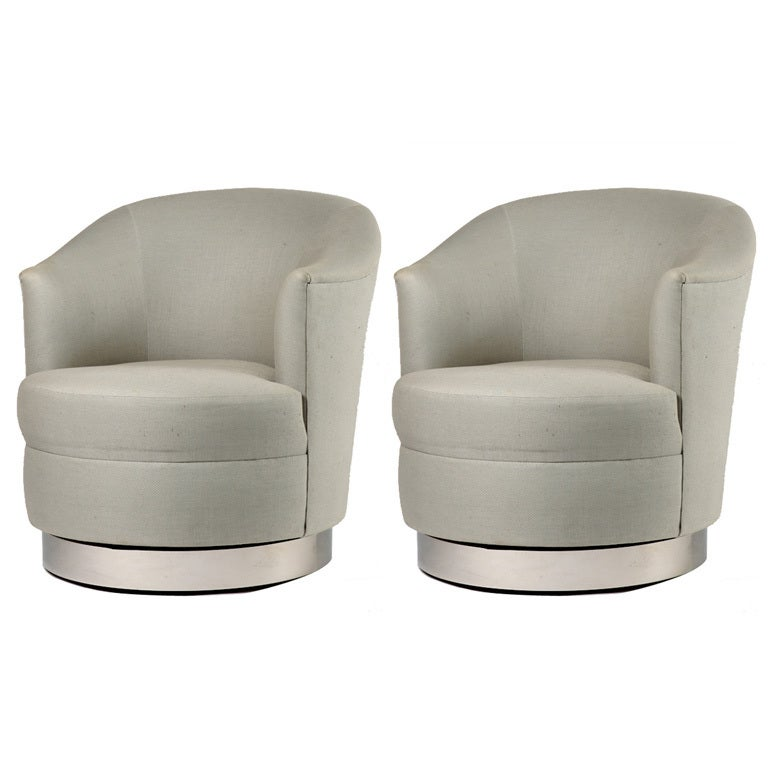 swivel club chair cheap modern chairs pair of karl springer for sale at 1stdibs