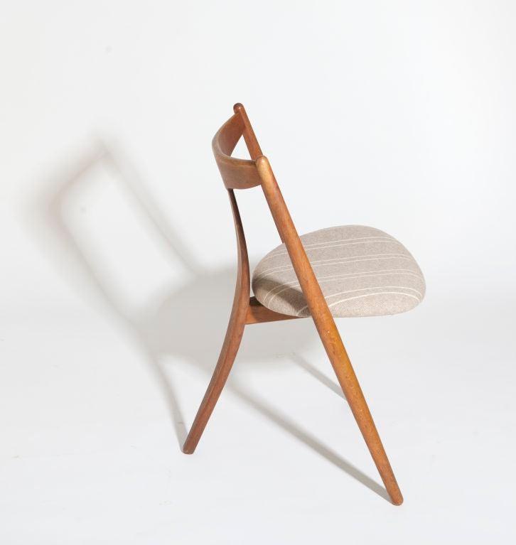 3 legged chair bedroom walmart visbon pair of three chairs for sale at 1stdibs danish