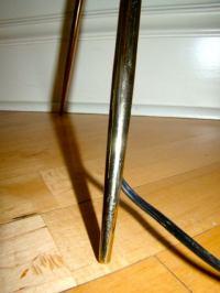 Italian Brass Tripod Mid Century Table Lamp Pair at 1stdibs