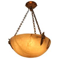 French Alabaster Chandelier at 1stdibs