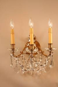 1930s French Crystal Wall Sconces at 1stdibs