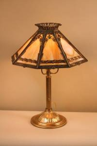 1920s American Stained Glass Lamp at 1stdibs