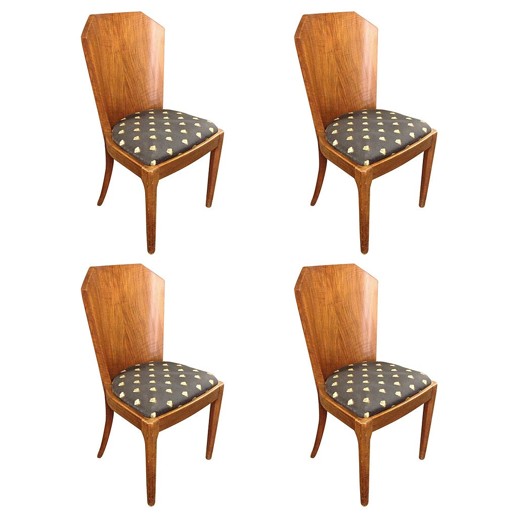 art deco kitchen chairs small foldable chair 4 dining room at 1stdibs