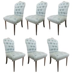 Cane Barrel Chair Avengers Table And Chairs Set 6 Regency Style Tufted Dining At 1stdibs