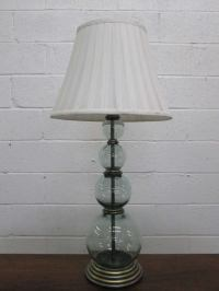 Pair Hand Blown Glass Table Lamps at 1stdibs