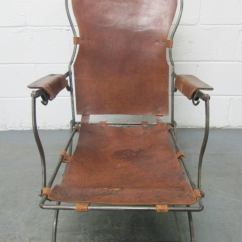 Steel Lounge Chair Plastic Rail Moulding 19th Century French And Leather For