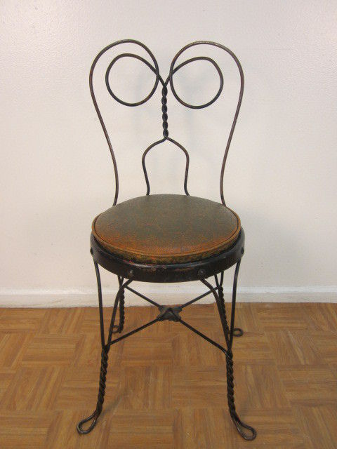 green french bistro chairs folding chair mitre 10 set of 6 vintage ice cream parlor at 1stdibs