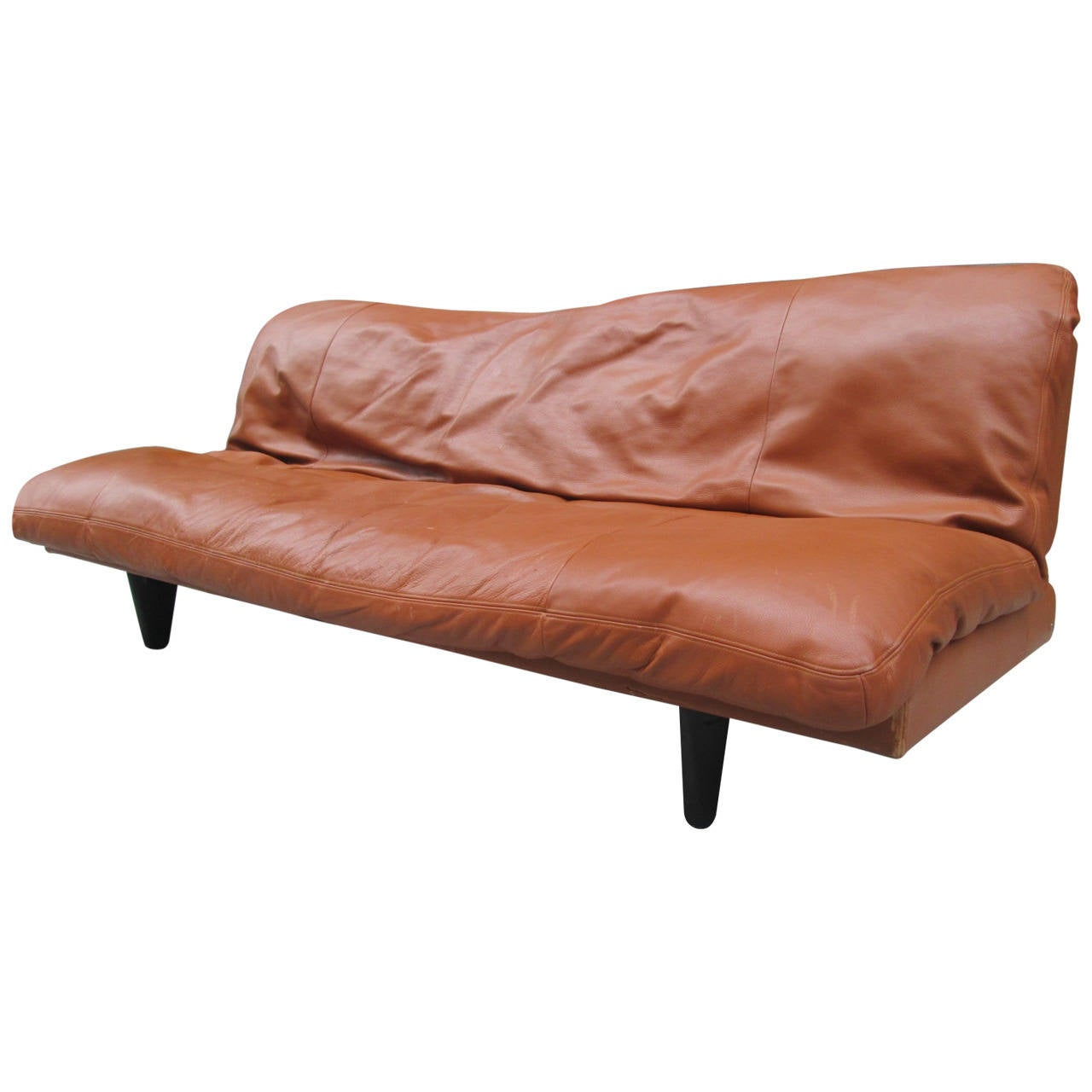 de sede sleeper sofa simple sleep single lounge chair bed leather convertible by for sale at 1stdibs