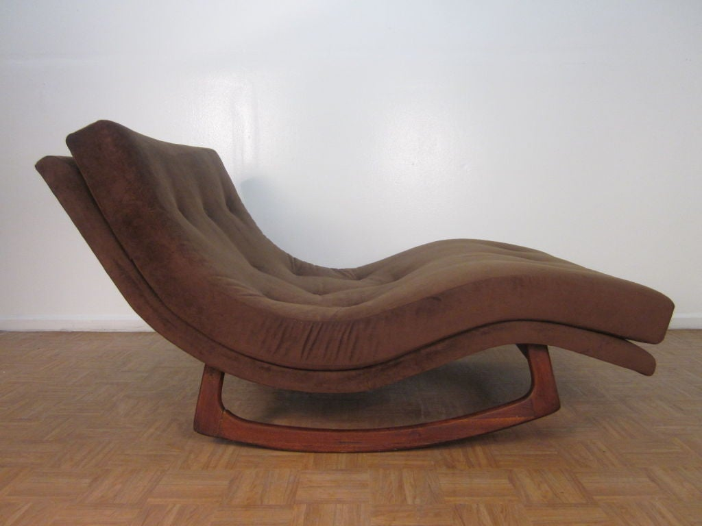 Double Wide Recliner Chair Sculptural Adrian Pearsall Double Wide Rocking Chaise For