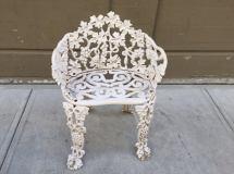 Pair Of Vintage Cast Iron Garden Chairs 1stdibs
