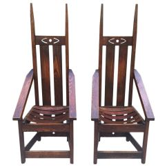Mission Chairs For Sale Tattoo Chair Pair Of High Back In The Style Charles