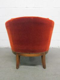 Curved Arm Chair by Baker For Sale at 1stdibs