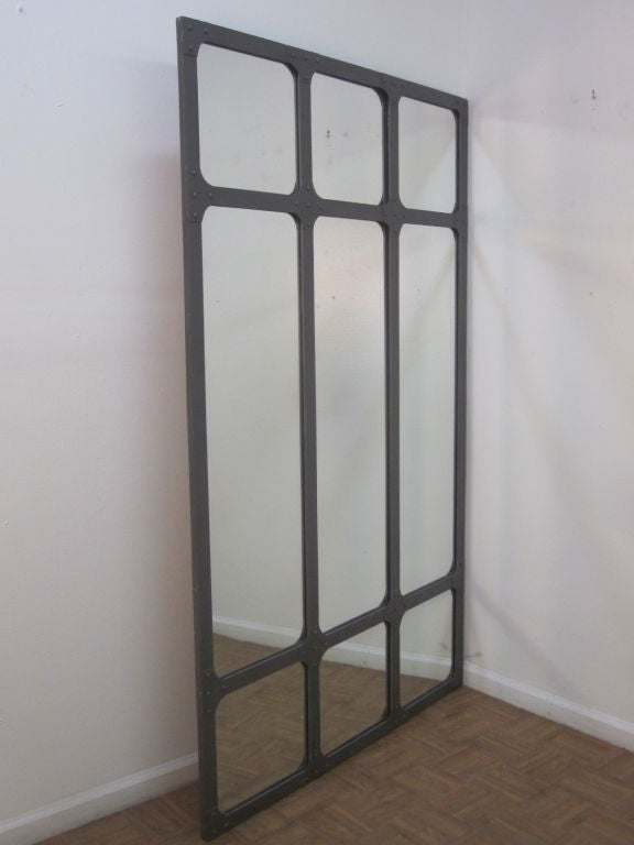 Large Industrial Heavy Wrought Iron Mirror For Sale At 1stdibs