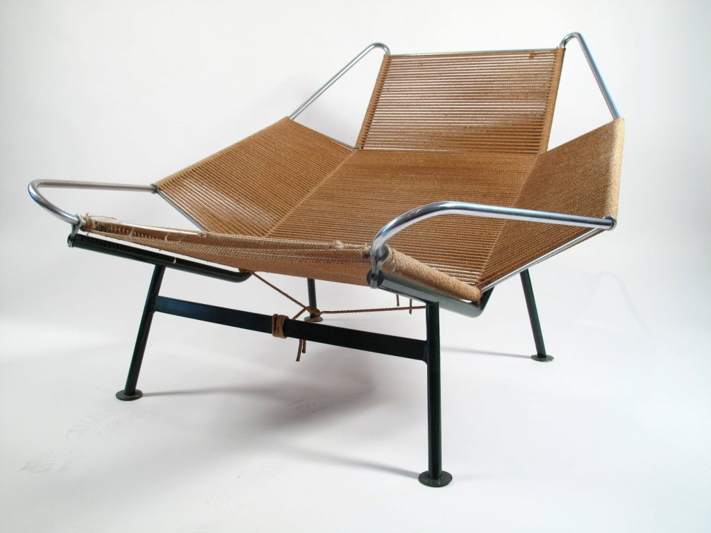 flag halyard chair teak folding chairs and table hans wegner lounge 1950 denmark at 1stdibs