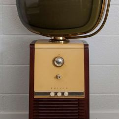 Swivel Chair In Spanish Cover Rental Sioux City Original Philco Predicta Barber Pole Mid Century Television At 1stdibs