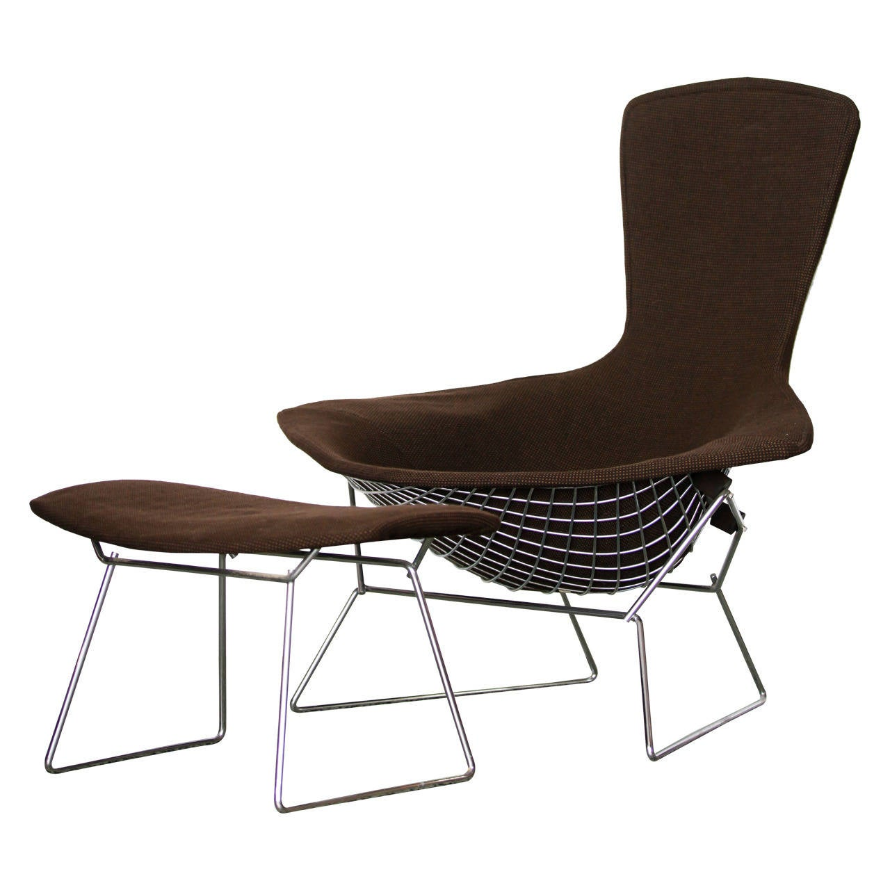 Bird Chair Bird Chair And Ottoman By Harry Bertoia For Knoll At 1stdibs