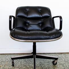 Pollock Executive Chair Replica Purple High Back Black By Charles For Knoll At 1stdibs