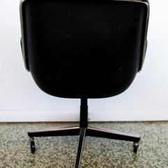 Pollock Executive Chair Replica Vitra Lounge Black By Charles For Knoll At 1stdibs