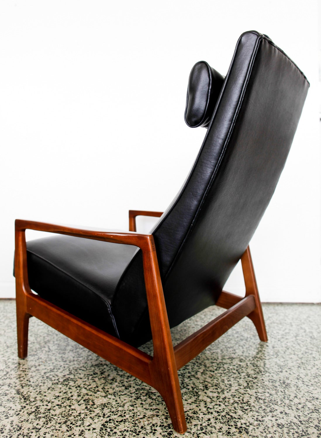Mid Century Recliner Chair Stunning Leather Black Mid Century Reclining Danish Lounge