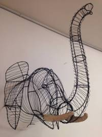 Stunning Elephant Wire Wall Sculpture at 1stdibs