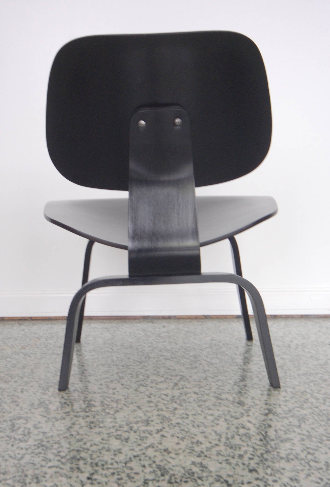 black eames chair purple club charles lcw at 1stdibs