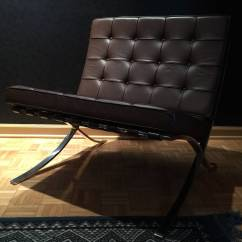 Barcelona Chair Used Quality Covers Ltd Milton Keynes Pair Of Brown Leather Chairs By Mies Van Der