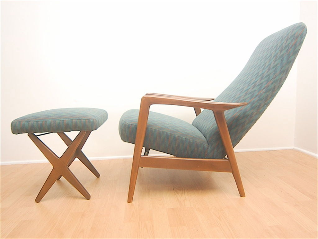 Selig Lounge Chair Selig Danish Modern Lounge Chair Relicner And X Base