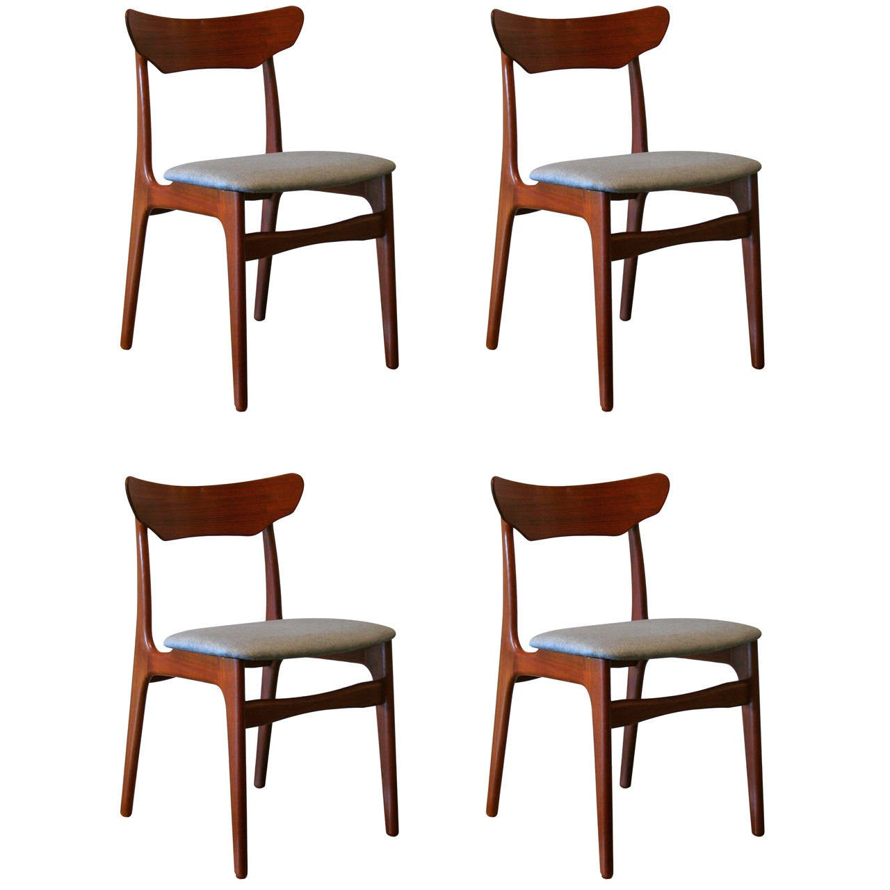 Danish Teak Dining Chairs Vintage Danish Teak Dining Chairs At 1stdibs
