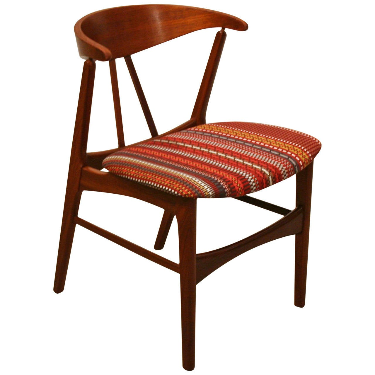 Vintage Accent Chair Vintage Teak Accent Chair At 1stdibs