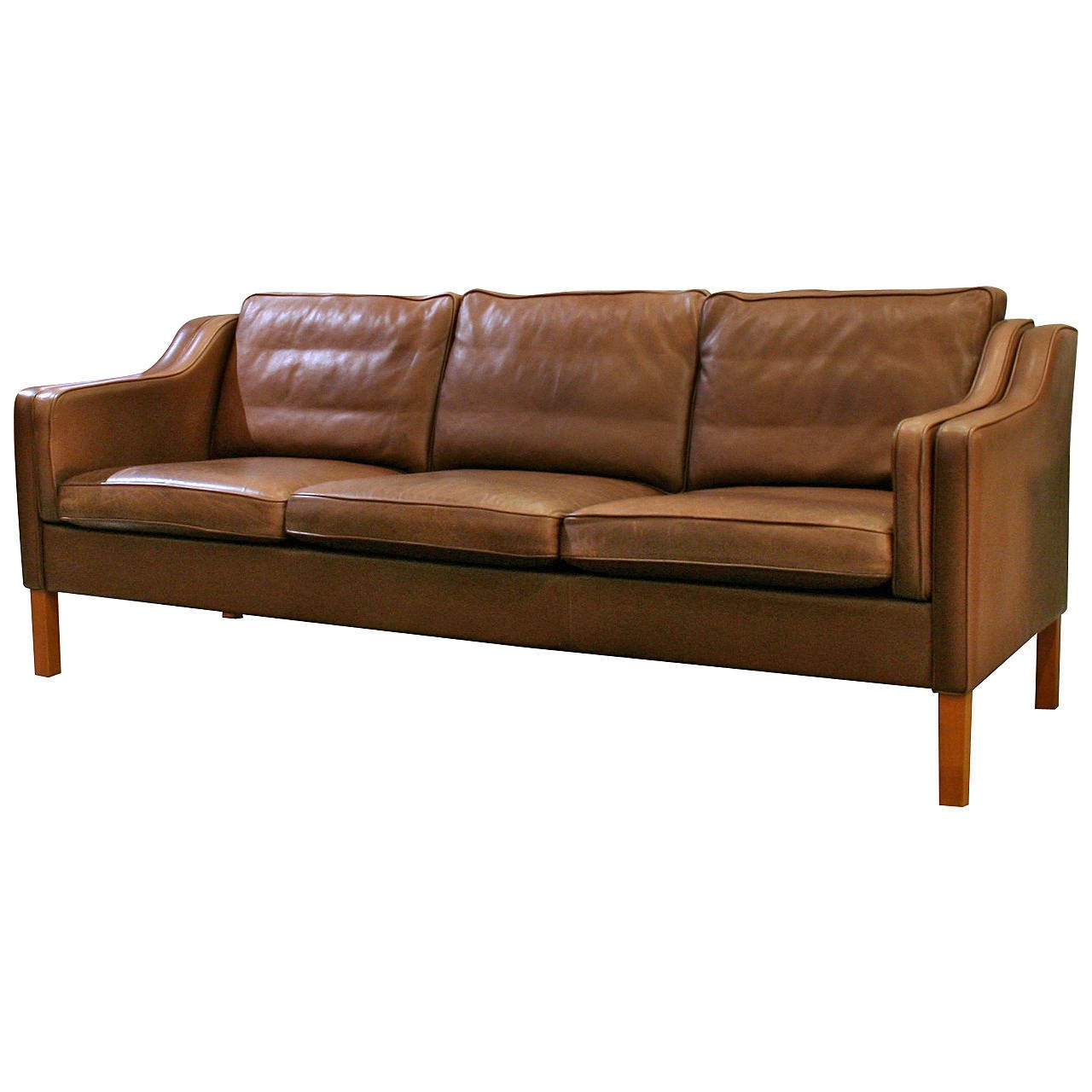 mogensen sofa 2209 soho large clic clac bed red vintage danish leather at 1stdibs
