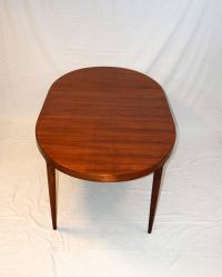 Mid-Century Danish Walnut Oval Dining Table by Moreddi Co ...