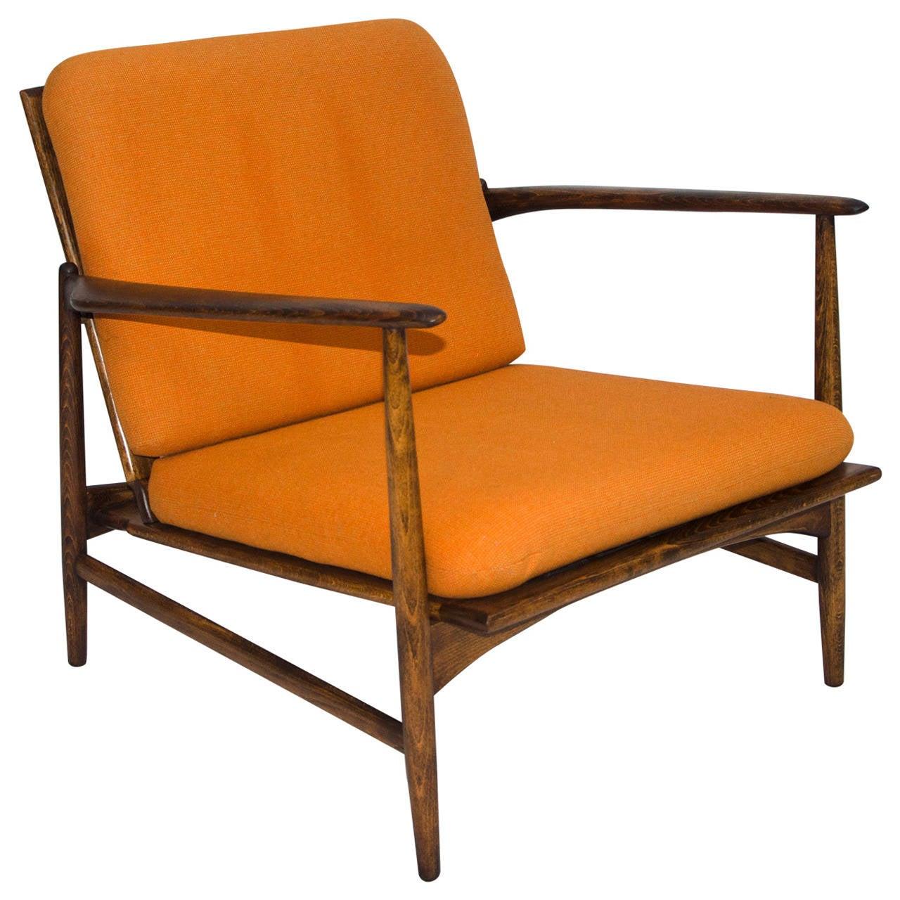 Danish Lounge Chair  Selig  Ib KofodLarsen at 1stdibs