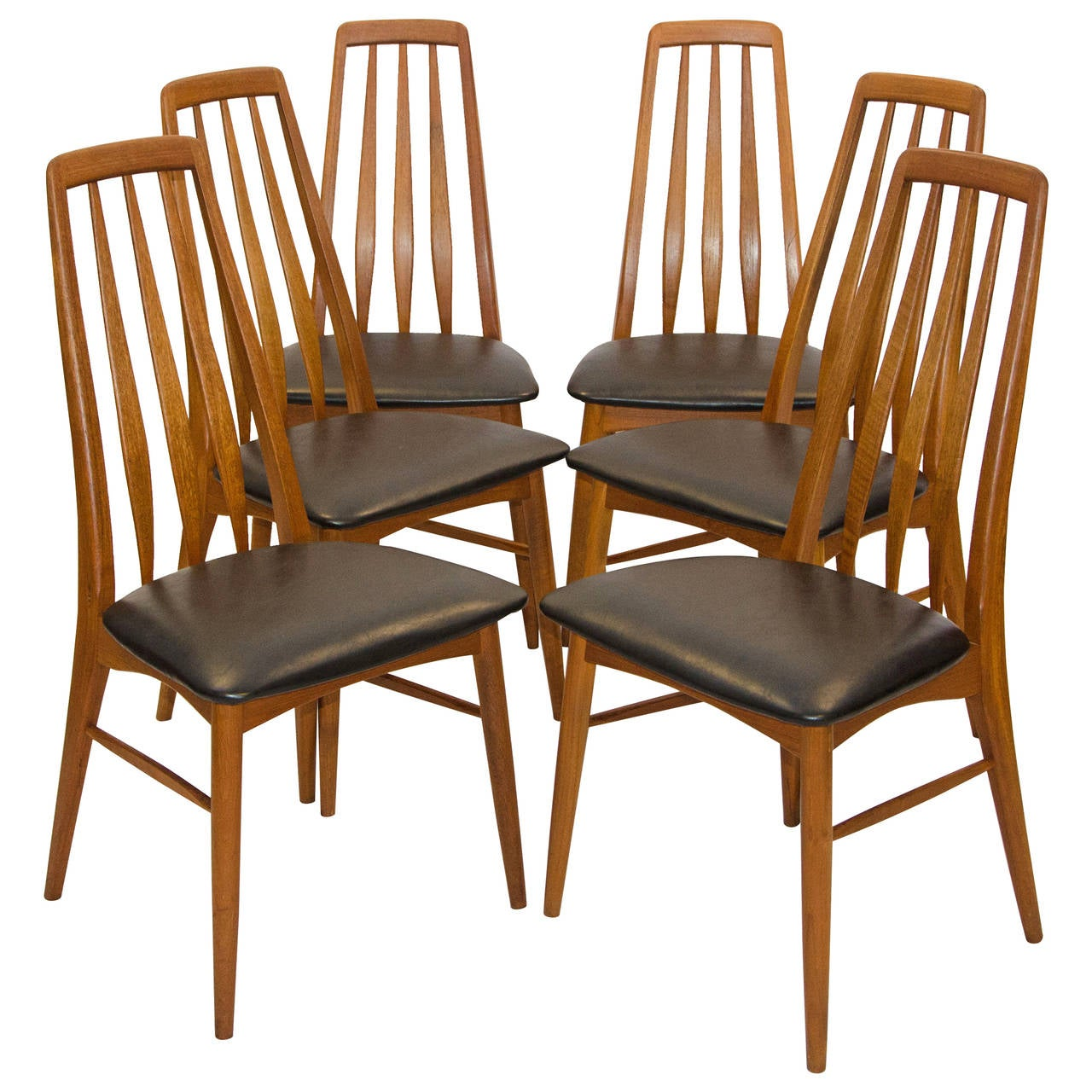 teak dining room chairs for sale marshmallow toddlers six danish koefoed hornslet at 1stdibs