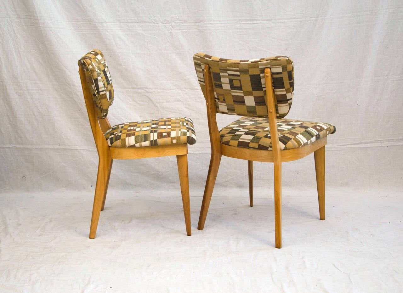 heywood wakefield dogbone chairs folding table and for camping four mid century dining