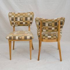 Heywood Wakefield Dogbone Chairs Galvanized Metal Chair Four Mid Century Dining For