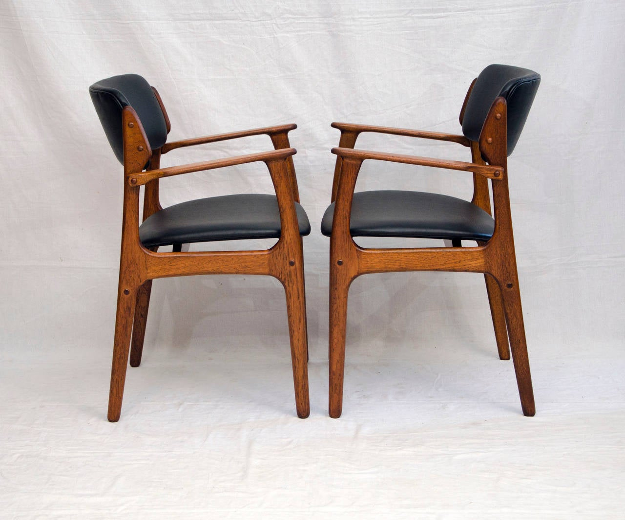 erik buck chairs floating pool chair with umbrella set of 12 danish teak dining by at 1stdibs