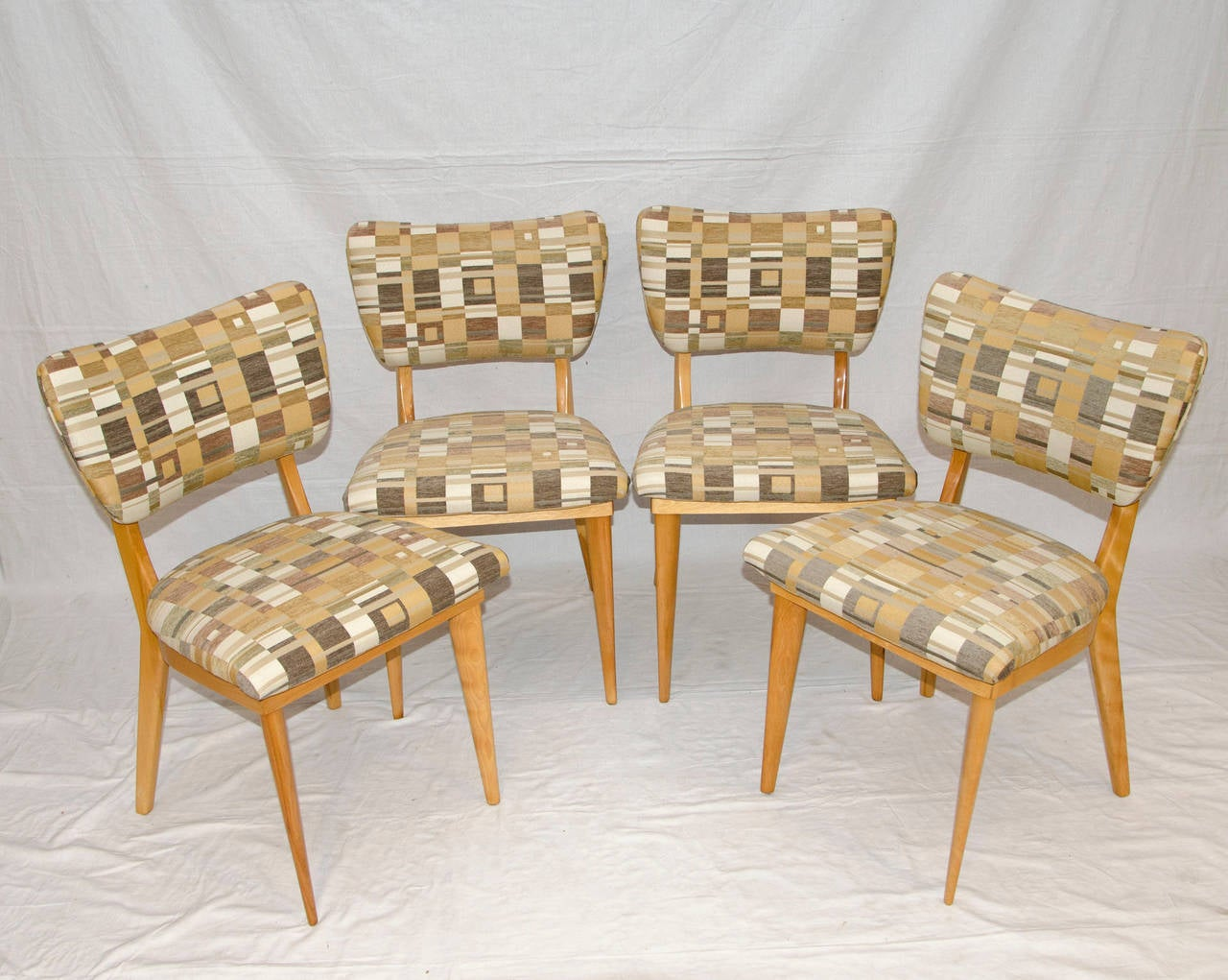 heywood wakefield dogbone chairs folding chair bed four mid century dining for