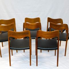 Teak Dining Room Chairs For Sale Beach San Diego Eight Moller 71 At 1stdibs
