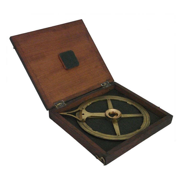 19th C Nautical Protractor at 1stdibs