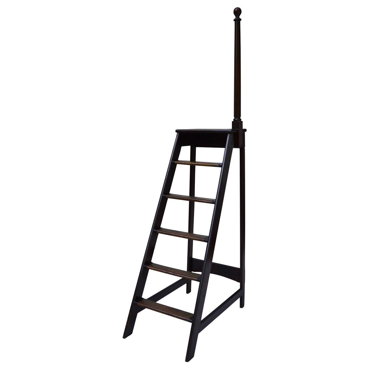 library chair ladder plans brown executive office chairs at 1stdibs