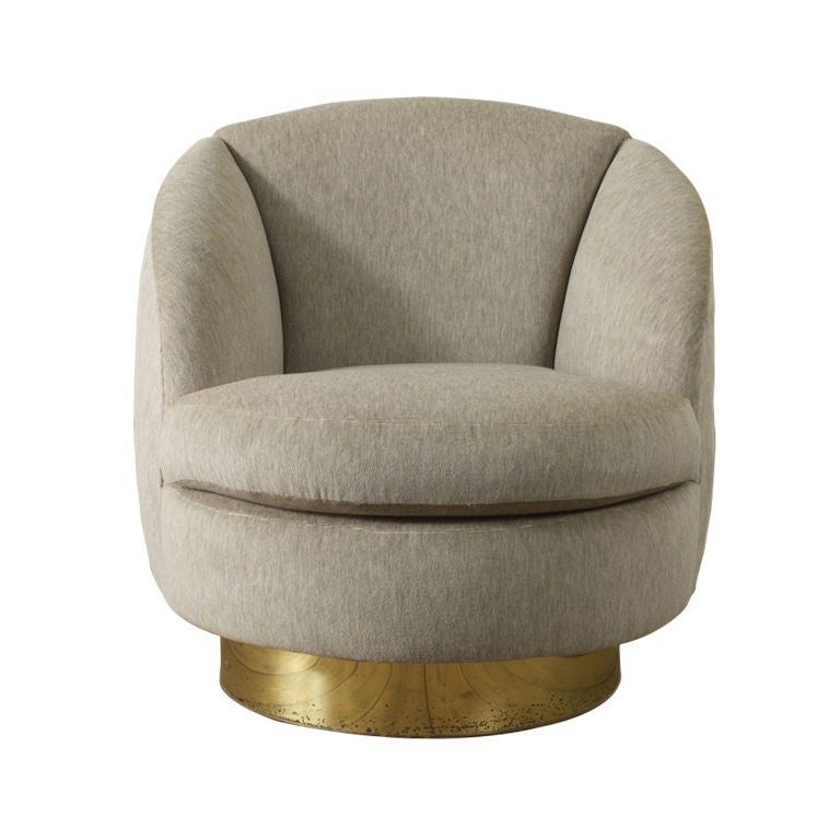Light Brown Leather Accent Chair