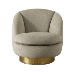 Accent Chair And Ottoman Dining Room Seat Covers Elegant Swivel Tub By Milo Baughman At 1stdibs