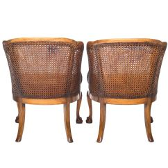 Cane Barrel Chair Salon Styling Georgian Style Walnut And Back Chairs With