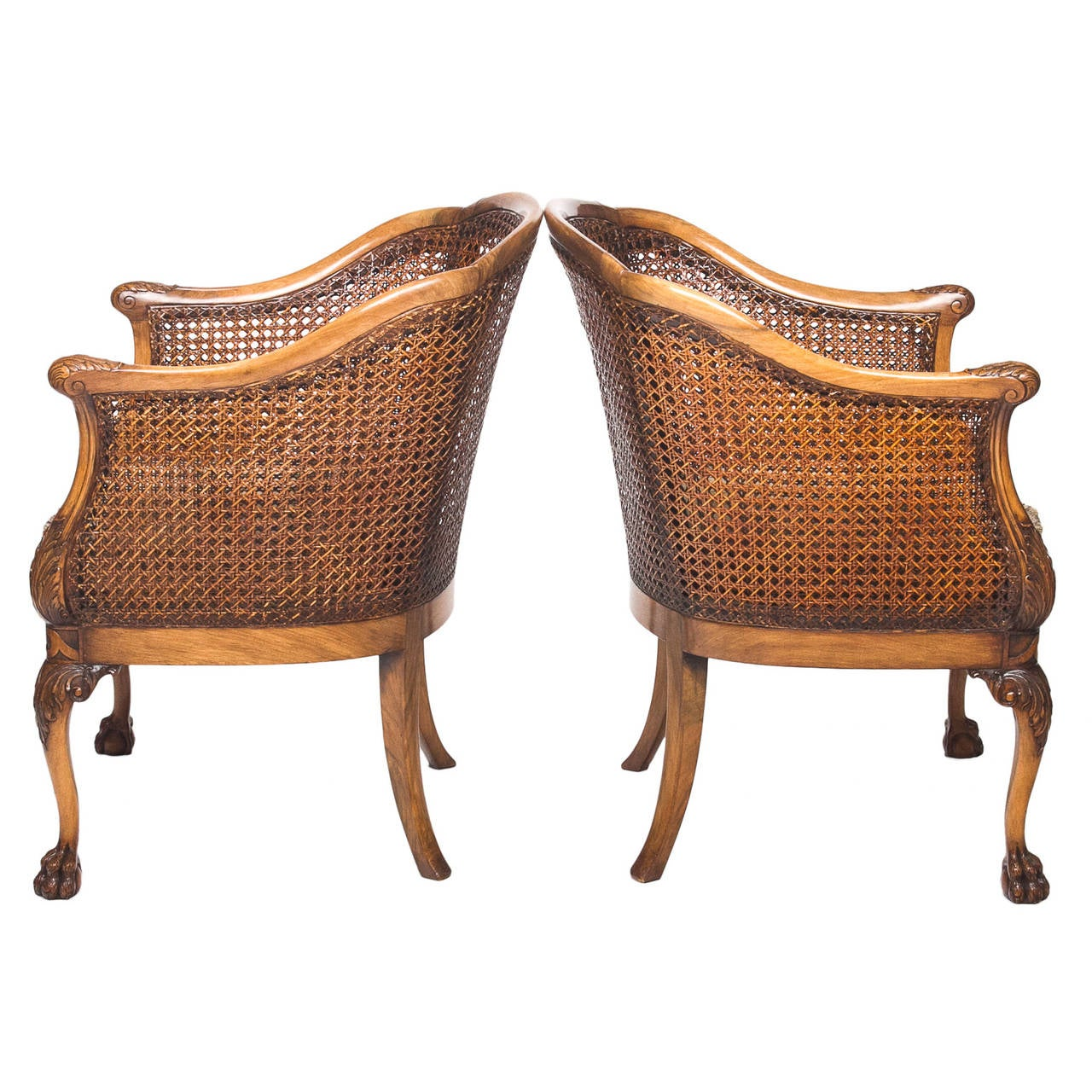 barrel back chair exercises pdf georgian style walnut and cane chairs with