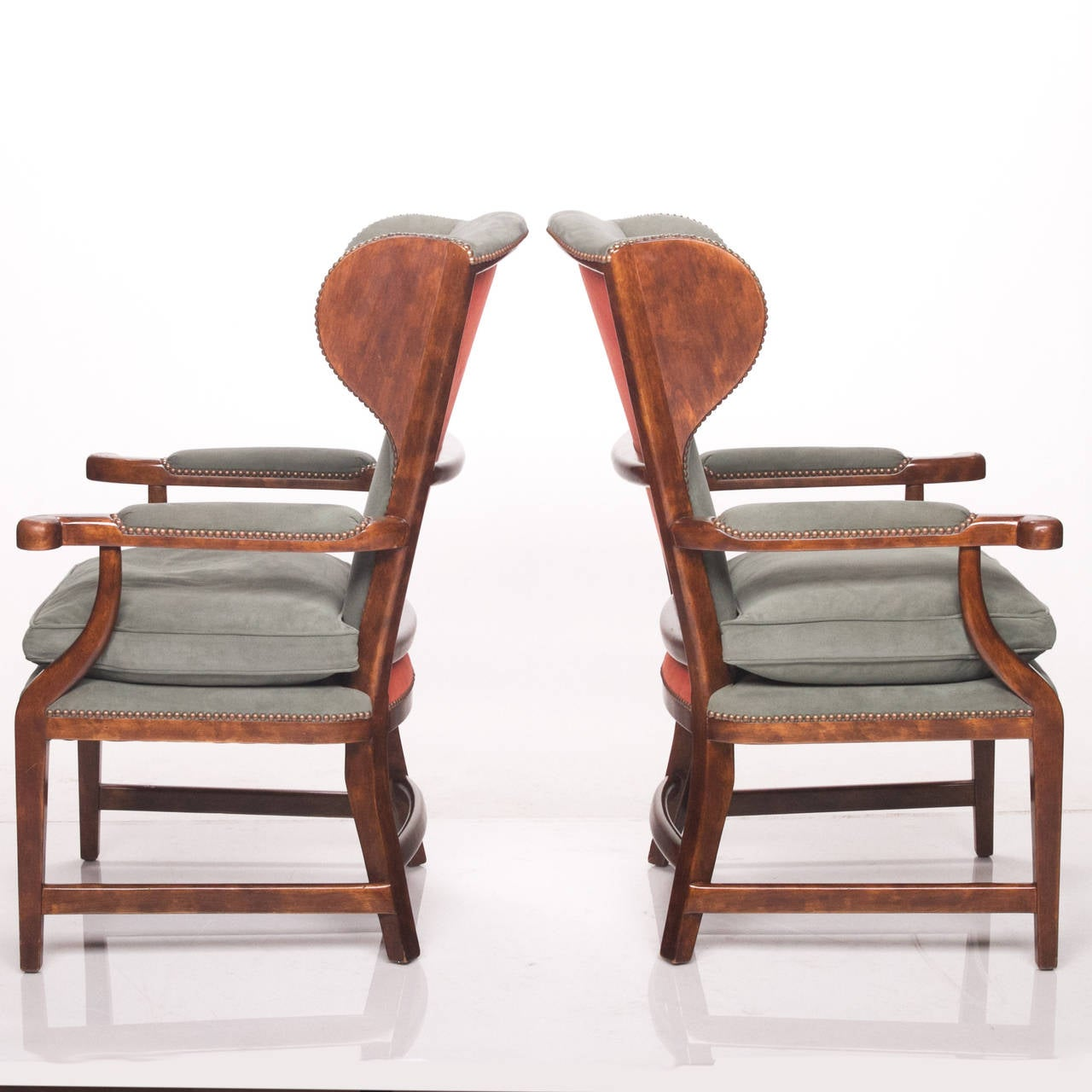 minton spidell chairs flexsteel rv captain chair seat covers english barber at 1stdibs