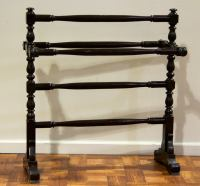 Very Simple Mahogany Quilt Rack at 1stdibs