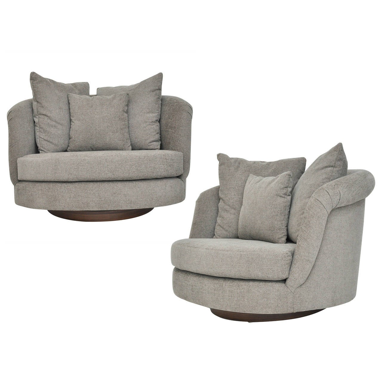 swivel chair large hanging with stand debenhams pair of milo baughman chairs for sale at 1stdibs